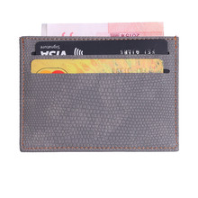 Slim Mini Card Holder Lizard Pattern Leather Bank Business Id Bag Wallet Case For Men Women Travel Accessories