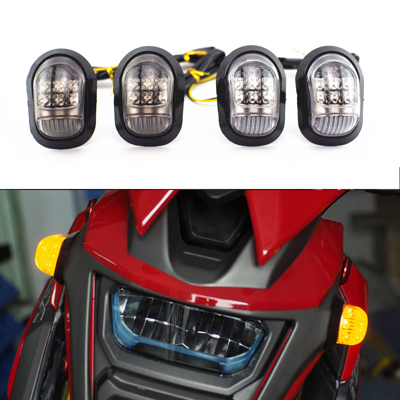 Pair LED Side Marker Blinker Light Lamp Bulb Side Turn Signals Light For Honda MSX125 BWS