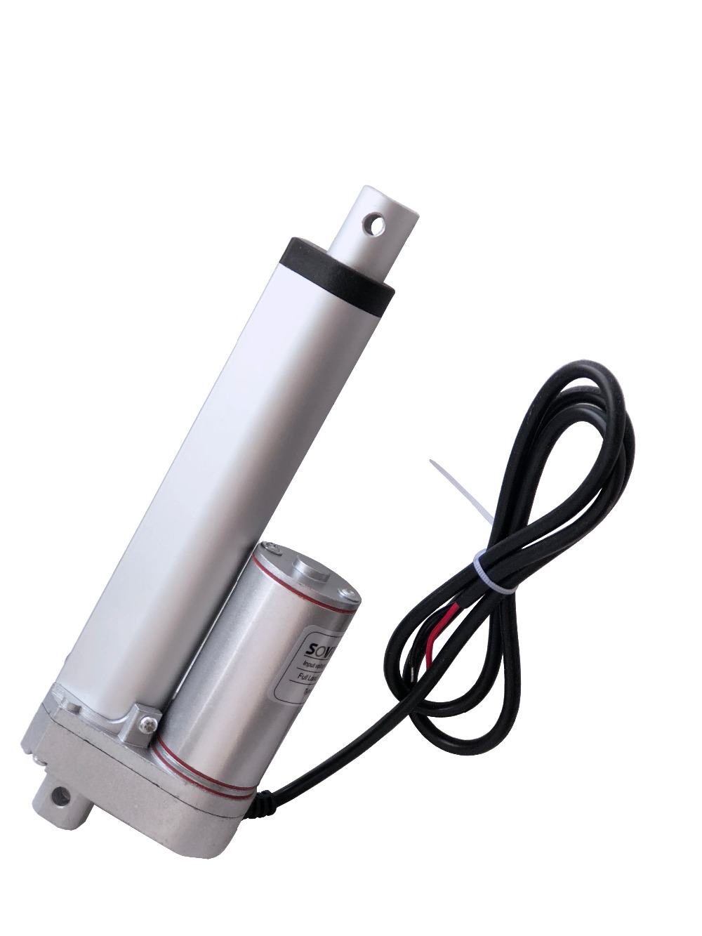 SOViK Electric Linear Actuator 100mm Stroke 12V 24V  DC Motor Heavy Duty 750N Load Include Mounting Brackets