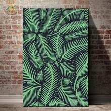 Nordic Posters And Prints Green Leaves Modern Canvas Art Painting Wall Decorative Pictures for Living Room