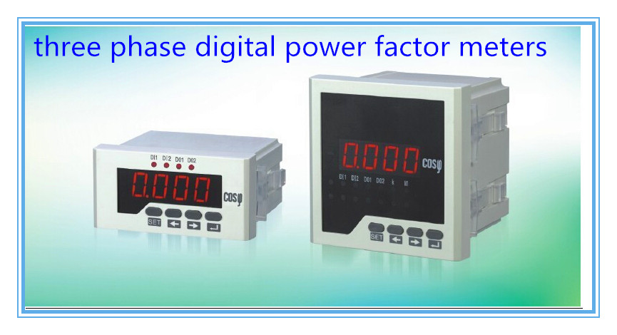 three phase COS meter LED digital power factor meters, power meters.industrial digital panel meters, power factor indicator