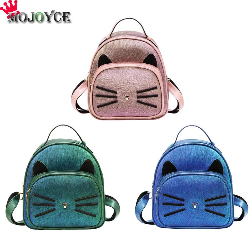 67468d284481 Detail Feedback Questions about Cute Cat Pattern PU Leather Women Backpack  Girls Mini Travel Shoulder School Backpack Mochila Feminina sac a dos femme  on ...