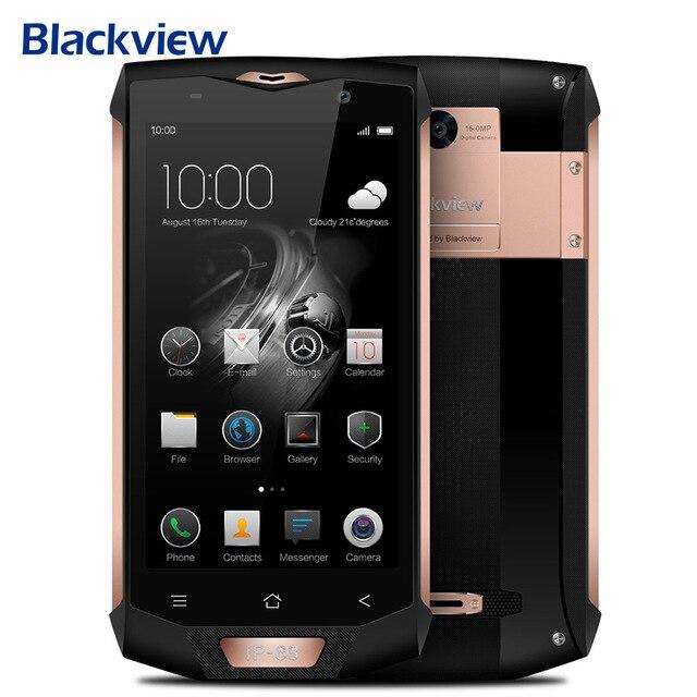 Оригинал Blackview BV8000 Pro 4 г мобильный телефон 5.0 дюймов Android 7.0 MTK6757 Octa Core 2.3 ГГц 6 ГБ + 64 ГБ 16.0MP NFC OTG Смартфон