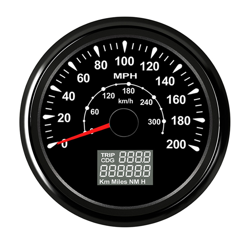 Black Motorcycle GPS Speedometer Speed Gauge meter fit Car Truck Boat Vessel with 8 color backlight  9-32VBlack Motorcycle GPS Speedometer Speed Gauge meter fit Car Truck Boat Vessel with 8 color backlight  9-32V