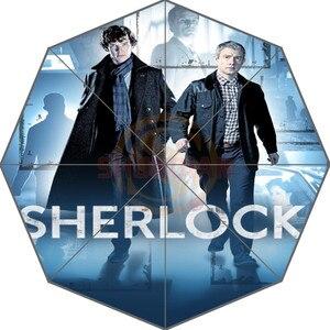 Sherlock Holmes Custom Nice New Best Design Portable Fashion Stylish Useful Foldable Umbrella Good Gift Idea!Free Shipping