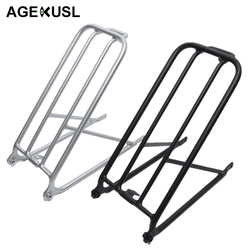 AGEKUSL Bike Standard Cargo Rack For Brompton Folding Bicycle Aluminum Easy wheel Rack Mini Cycling Bicycle Accessories 300gAGEKUSL Bike Standard Cargo Rack For Brompton Folding Bicycle Aluminum Easy wheel Rack Mini Cycling Bicycle Accessories 300g