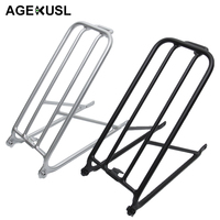 AGEKUSL Bike Standard Cargo Rack For Brompton Folding Bicycle Aluminum Easy wheel Rack Mini Cycling Bicycle Accessories 300g