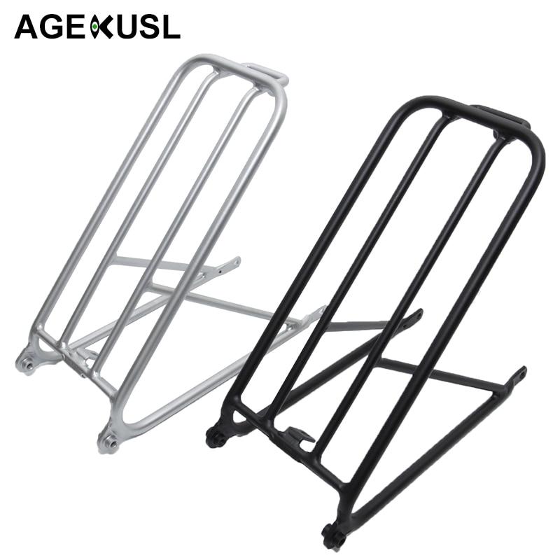 AGEKUSL vélo Standard porte-bagages pour Brompton vélo pliant en aluminium facile roue Rack Mini vélo vélo accessoires 300g
