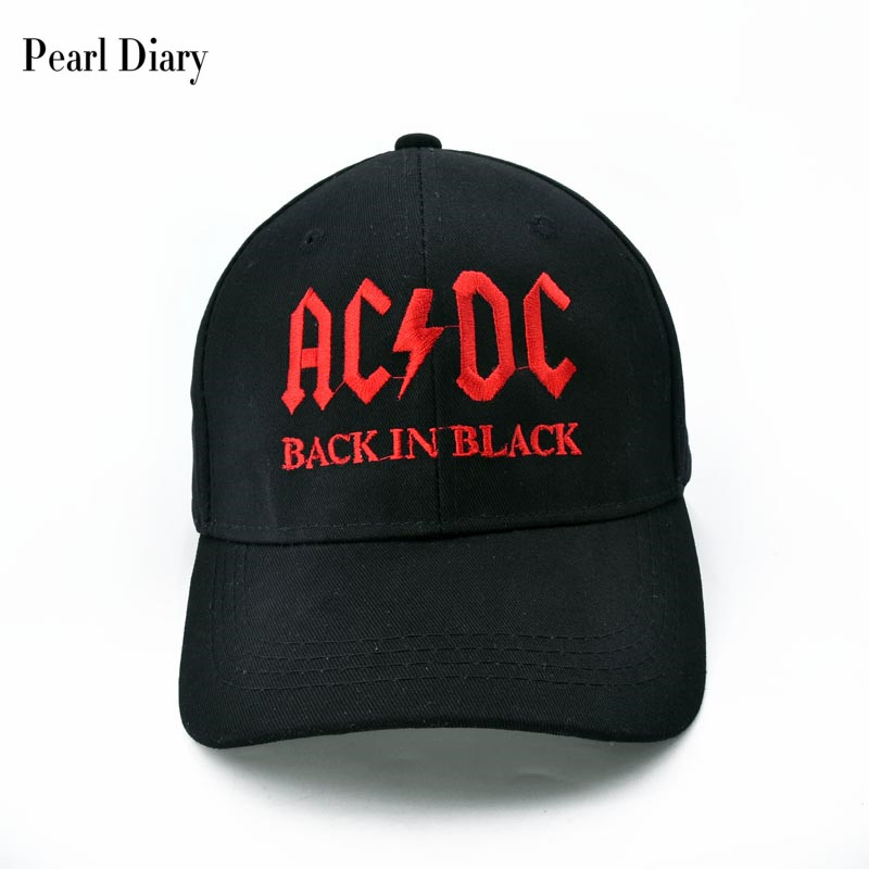 2017 New AC/DC band baseball cap rock hip hop cap Mens acdc snapback hat Embroidery Letter Casual DJ ROCK HAT cntang brand summer lace hat cotton baseball cap for women breathable mesh girls snapback hip hop fashion female caps adjustable