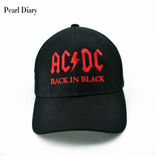 2017 New AC/DC band baseball cap rock hip hop cap Mens acdc snapback hat Embroidery Letter Casual DJ ROCK HAT