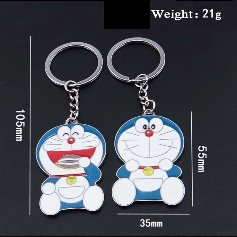 High Quality Novelty Cute Doraemon Anime Key Ring Key Chain Trinket Live Animal Keychains Bag Chain Accessories Jewelry Gift