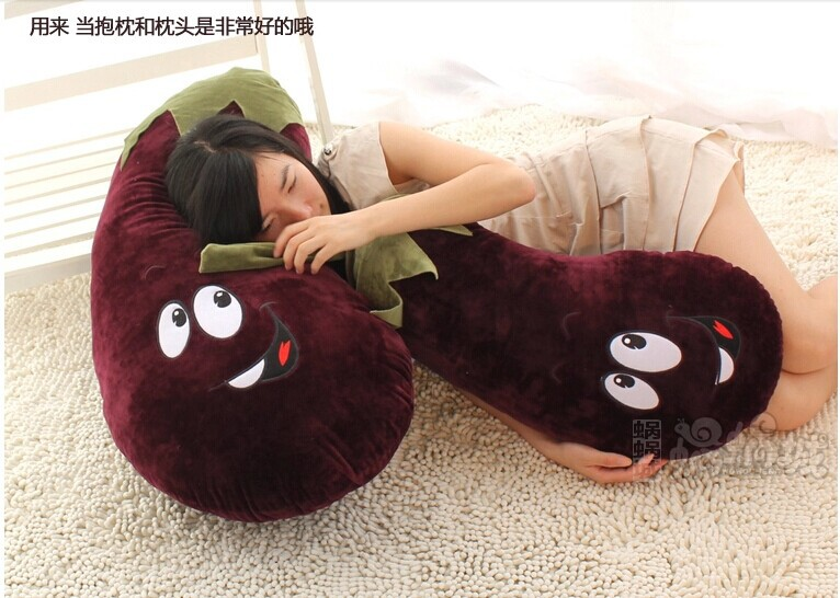 simulation aubergine huge 90cm eggplant cartoon plush toy cushion , throw pillow , Christmas gift w4685