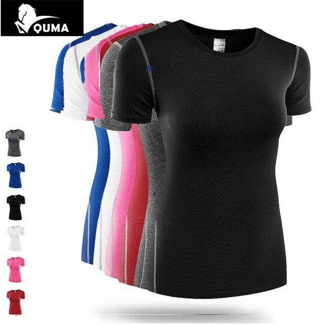 HOT2017 Summer women Sport font b Fitness b font Short sleeve Pro training High elastic Base