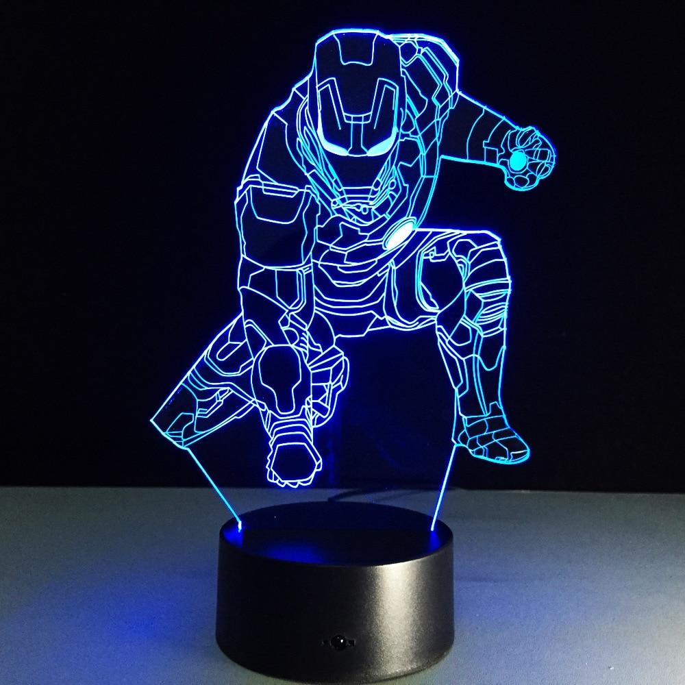 Novelty 3D Iron Man Halloween Pumpkins Night Light Lamp USB Lamp Remote Control Lighting Home Bedside Nightlight For Child Gift
