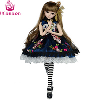 UCanaan 1/3 BJD Doll Full Outfits SD Dolls 18 Ball Jointed Doll With Accessories Handmade Toys for Girls Gift Collection