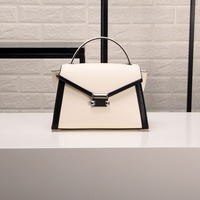 New Genuine Leather Luxury Fashion Women's Top handle Bag High Quality Real Leather Shoulder Crossbody bag Trapeze bag
