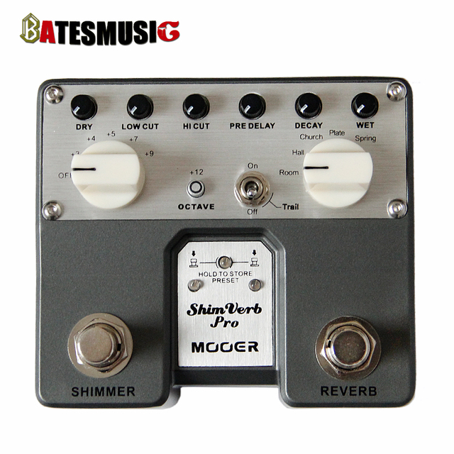 Cheap MOOER Twin Pedal Series Shimverb Pro Digital Guitar Pedal with Adjustable Shimmer Effects / Guitar Pedals NEW ARRIVALS HOT