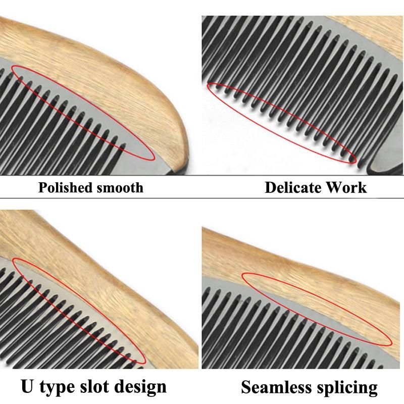 2016 m. Natūralaus jaučio rago sandalmedžio šukos, pagamintos - Plaukų priežiūra ir stilius - Nuotrauka 2