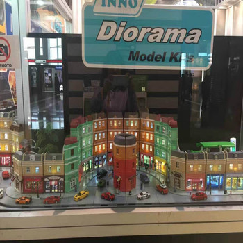 High Simulation 1:64 RMZ city Diorama Education Model Building Kits Toy DIY European house Diecast Metal Cars for children gifts - discount item  5% OFF Building & Construction Toys