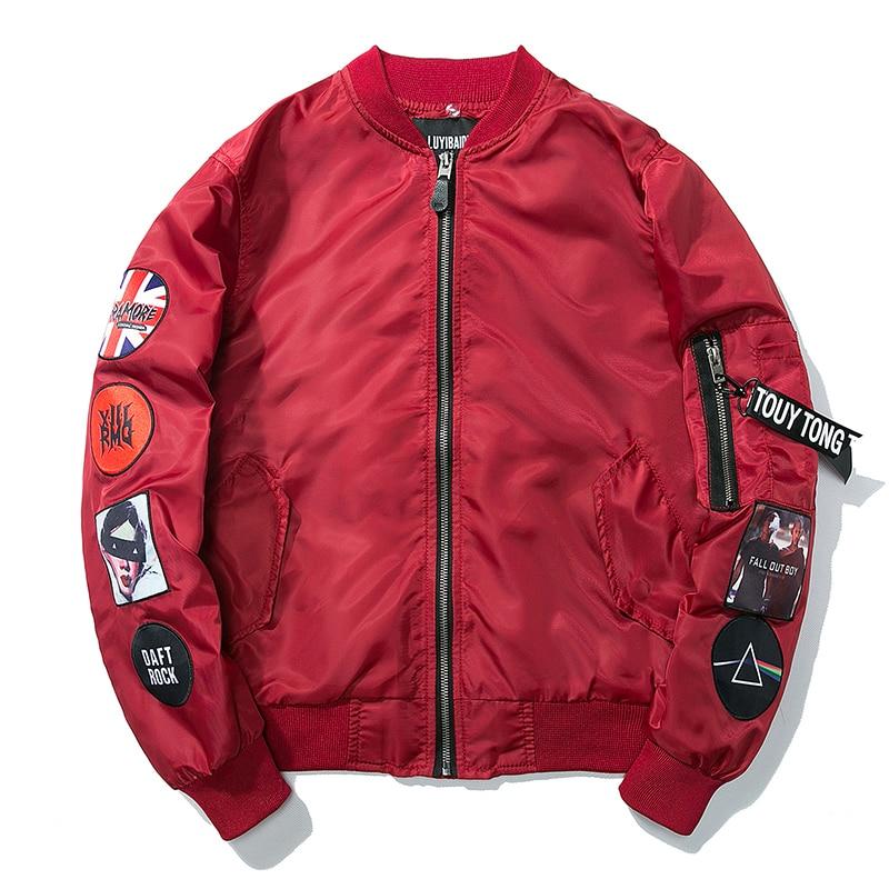 15e56d2e12a1e Detail Feedback Questions about KUYOMENS Men Bomber Jacket Hip Hop ...