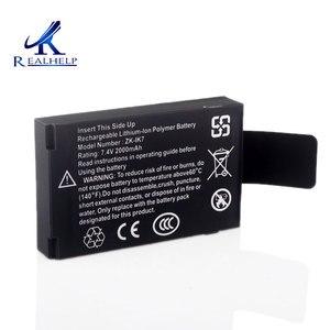 Image 2 - 作業することができ 3 に 5 時間 IK7 リチウム電池 7.4v 2000 内蔵バッテリー充電式バッテリー zk iface 機