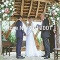 New Fresh Look Vintage Wedding Dress Open Back Vestido De Noiva 2016 Boho Beach Wedding Dresses Lace Long Sleeves Bridal Gowns