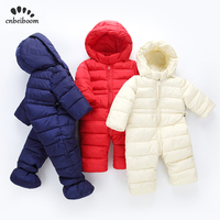2019 new Winter Rompers Baby Clothes Boys Girls Jumpsuit Kids Down Cotton Overalls Russia autumn snowsuit Hoodies Parka Clothing