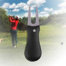 1 Pcs Steel Golf Divot Repair Switchblade Tool Pitch Groove Cleaner Golf Pitchfork Golf Accessories Putting Green Fork Dropship