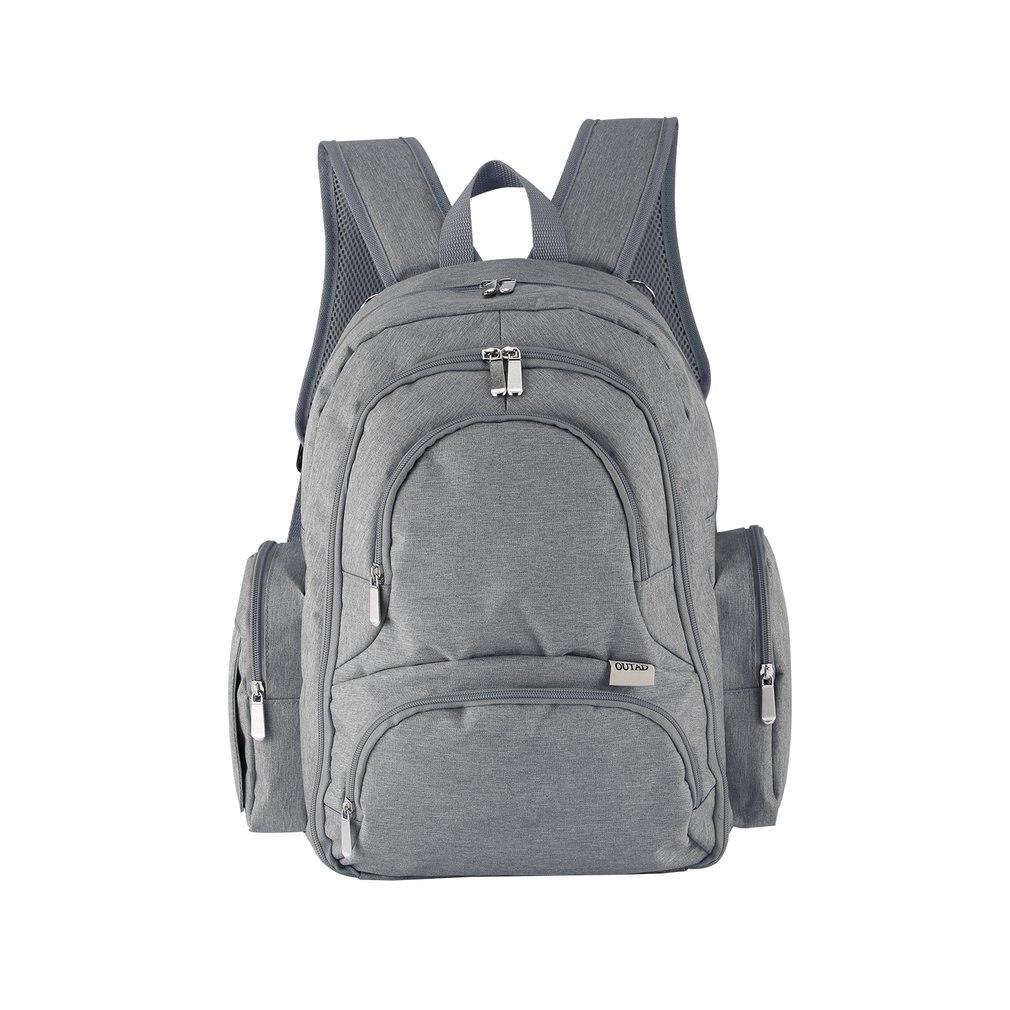 OUTAD sac à couches pour bébé organisateur intelligent sac à dos à couches de voyage étanche avec matelas à langer bandoulière confortable