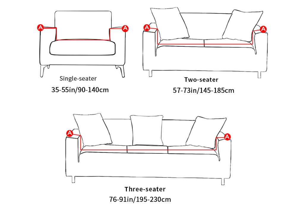24colors Slipcover Stretch Four Season Sofa Covers Furniture Protector Polyester Loveseat Couch Cover Sofa Towel 1234-seater (2)