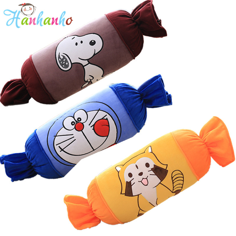 Cute Candies Soft Cushion Cartoon Plush Toy long Pillow Kids Stuffed Animal Children Gift 60cm 1pc 33cm 30cm mickey mouse and minnie plush pillow cushion cartoon stuffed pillow car cushion soft toy for gift