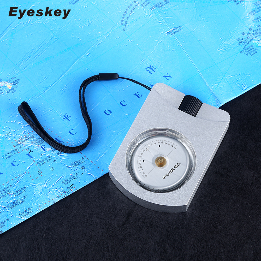 Eyeskey Professional Waterproof Alitemeter Survival Compass Height Measurement eyeskey professional aluminum sighting compass clinometer slope height measurement map compass waterproof