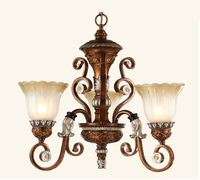 Multiple Chandelier fashion exquisite carved classical royal family 3 wrought iron light light ZZP