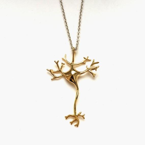 DANGGAO 3D Printed Dendrites Neuron anheng Halskjede for kvinner - Mote smykker