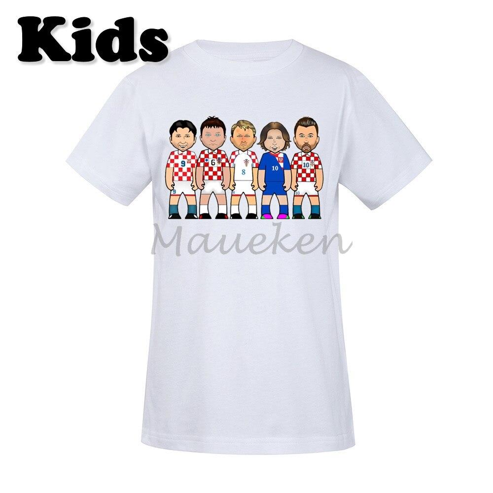 buy popular 7dd7f 93cf7 US $16.88 |Kids Croatian Croatia Legends Luka Modric Zvonomir Boban Slaven  Bilic Davor Suker Robert Prosinecki T shirt Youth boys girl tee-in Matching  ...