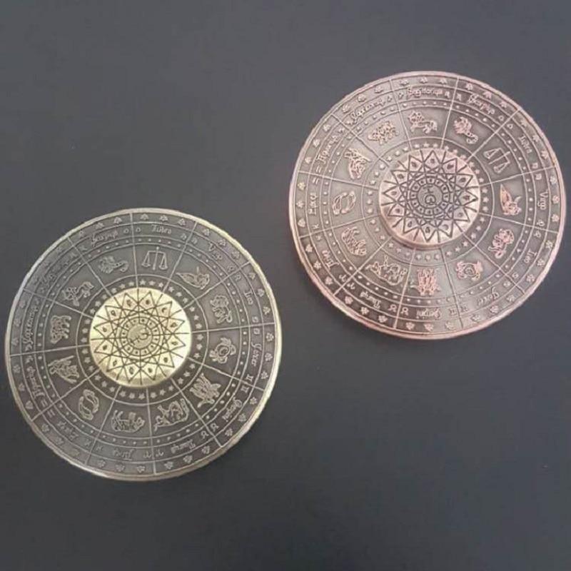Egypt 12 Constellations Shape Round Wheel Hand Spinner Zinc Unique Designed High Speed A ...