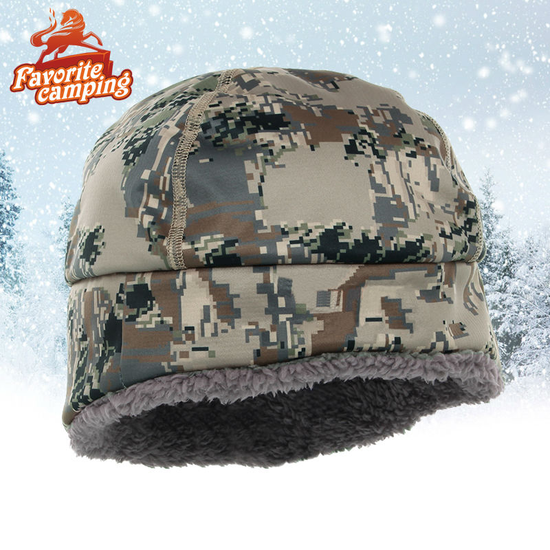SKAZKA Winter Hats Men sitka Camouflage Hunting Caps Windstopper Primaloft fur SITKA BOREAL BEANIE Male Hats