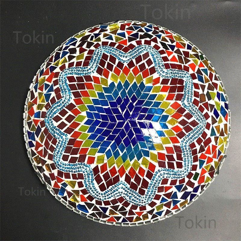 Image 4 - Newest Turkish mosaic ceiling Lamp vintage art deco Handcrafted lamparas de mesa Glass romantic light lamparas con mosaic-in Ceiling Lights from Lights & Lighting