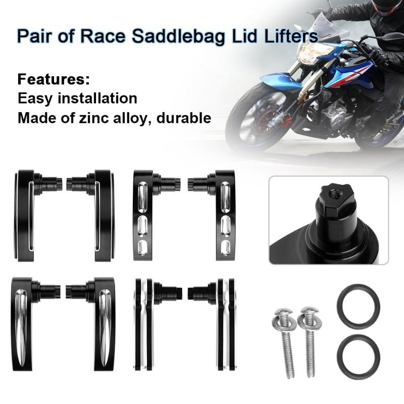 Automobiles & Motorcycles 1pair Black Zinc Alloy Race Saddlebag Lid Lifters For Harley Street Glide Auto Car Accessory Covers & Ornamental Mouldings New