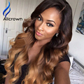 ALICROWN Ombre Human Hair Wigs For Black Women 9A Brazilian Lace Front Wig Full Lace Wigs Human Hair With Baby Hair Lace Fronts