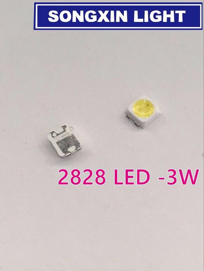 500pcs 2828 Led Backlight Tt321a 1.5w-3w With Zener 3v 3228 2828 Cool White Lcd Backlight For Tv Tv Application Sm Diodes