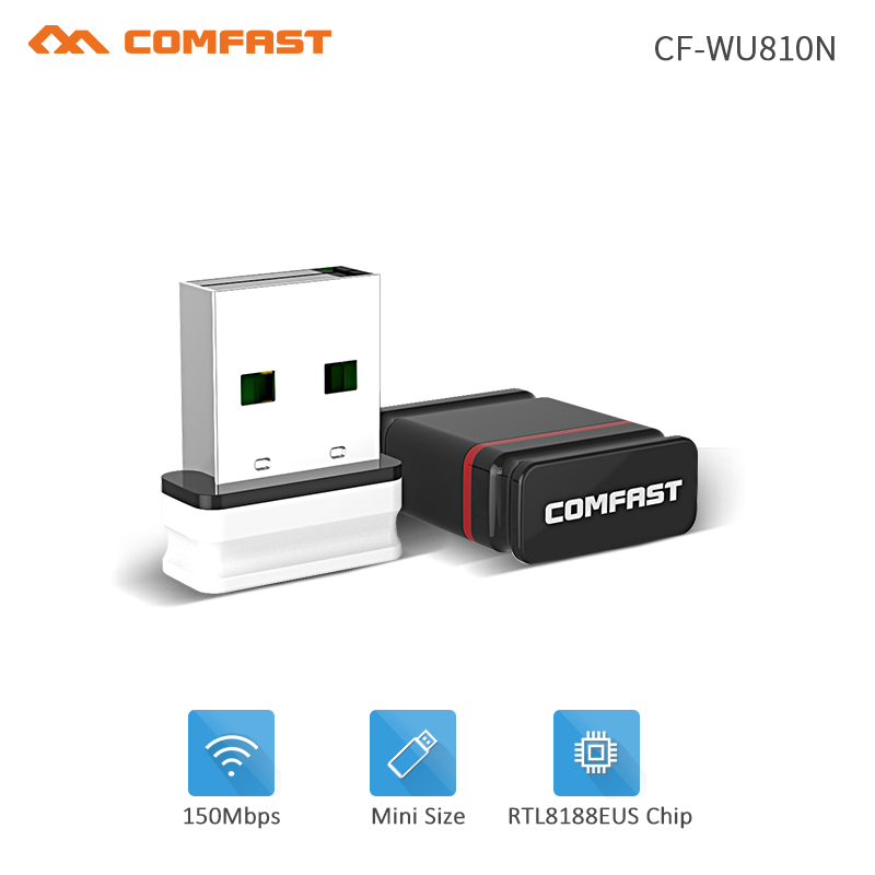 Stock!Comfast RTL8188EUS Mini USB Wi-fi Adapter 2.4G Wifi Dongle 150Mbps 802.11b/g/nEmitter Wi Fi Receiver Network Card Antenna