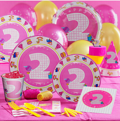 2 year girl birthday decorations for promotional 2