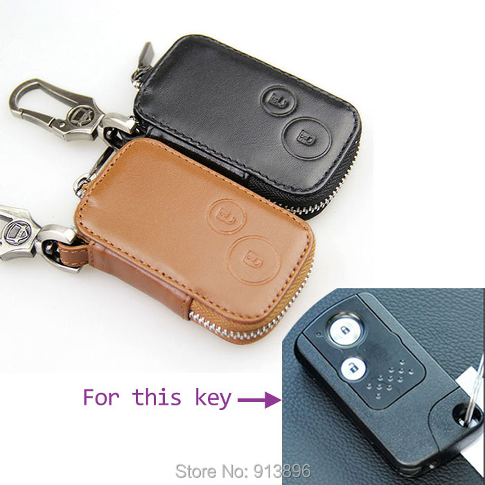Leather Car Key Case Fob Cover For Honda Accord 8