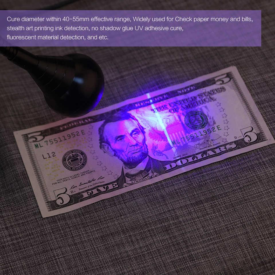 LemonBest черные светодиодные лампочки Светодиодный Ультрафиолетовая лампа отверждения гусиная шея лампа с зажимом 360 Поворот для поплавления краски цвета