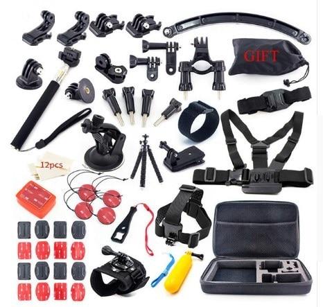 Pour GoPro Hero 6 5 4 Trépied Auto Bâton Mont Xiaomi yi mijia 4 k Accessoires Kit SJCAM SJ6 SJ7 SJ4 EKEN 4 k Go Pro Camera Action