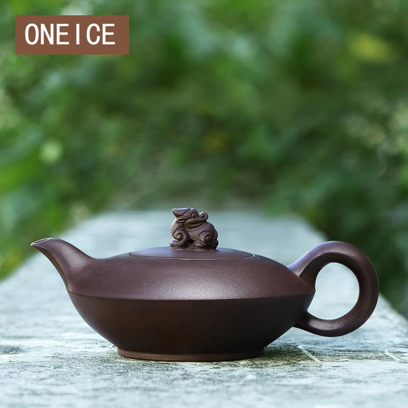 Yixing Teapot Pure Handmade Famous Raw Ore Authentic Old Purple Clay Home Tea Pot 230ML Chinese Yixing Teaware Teapots