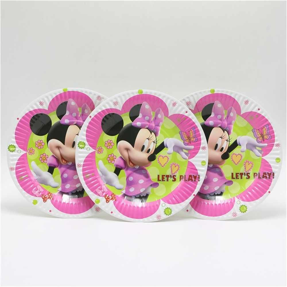 Ifor 20 Fontes Do Partido Decoração do Aniversário Dos Miúdos Meninas Minnie Mouse Tampa de Tabela Crianças Fontes Do Partido de Natal 41 Pratos De Papel Copos pcs