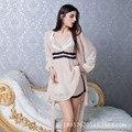 Дамы Шифон Слинг Платье Юбка Из Двух Частей Набор Шелк Пижамы