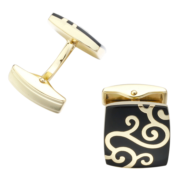 Memolissa High Stamping Gemelos Mens Pattern Luxury Custom Enamel Cufflinks
